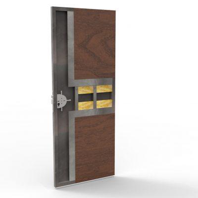 Puerta metálica con chapa en 1 direcciónes