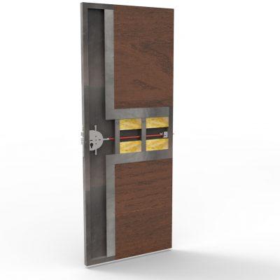 Puerta metálica con chapa en 2 direcciónes