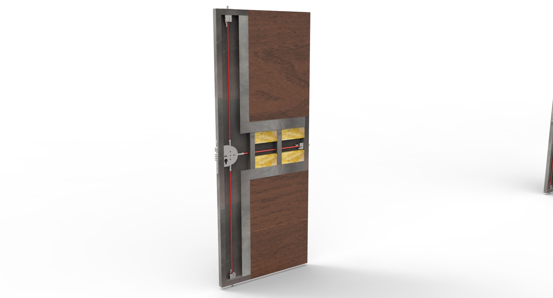 Puerta metálica con pestillos en 4 direcciónes